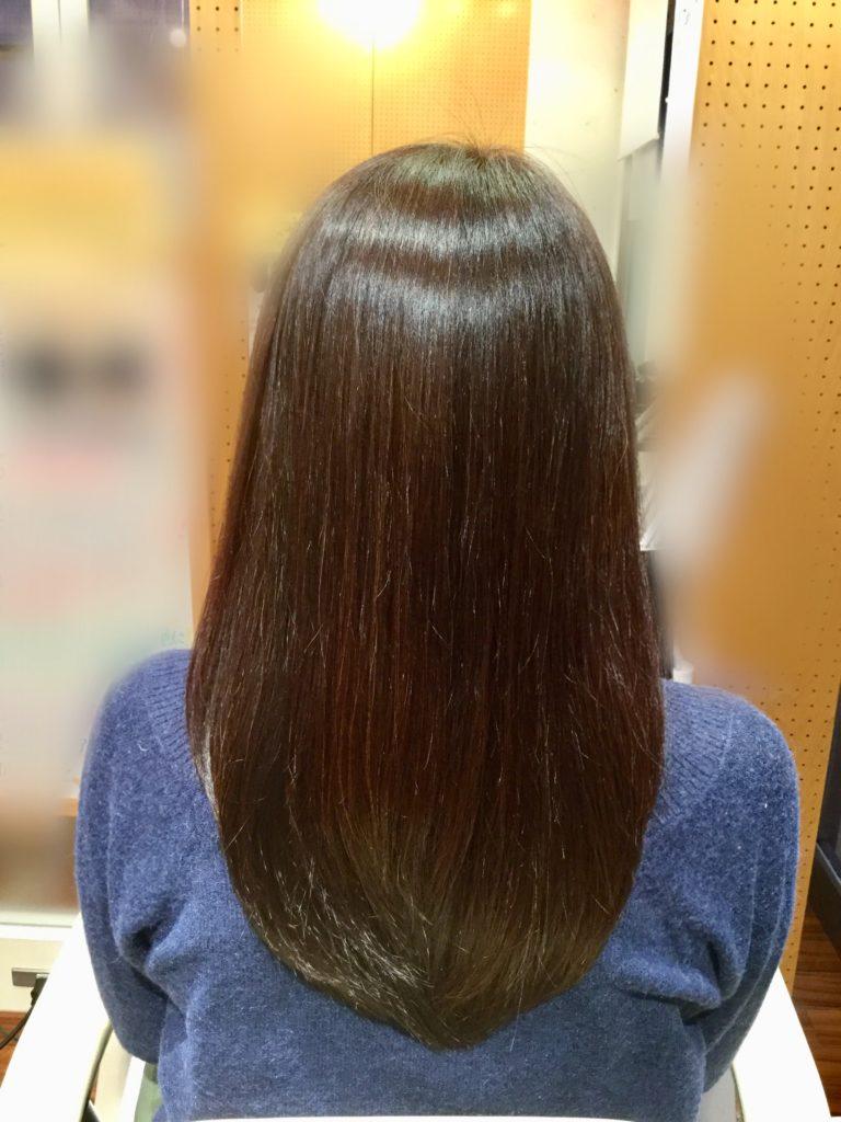 毛先の絡まりに髪体力向上カラーエステ