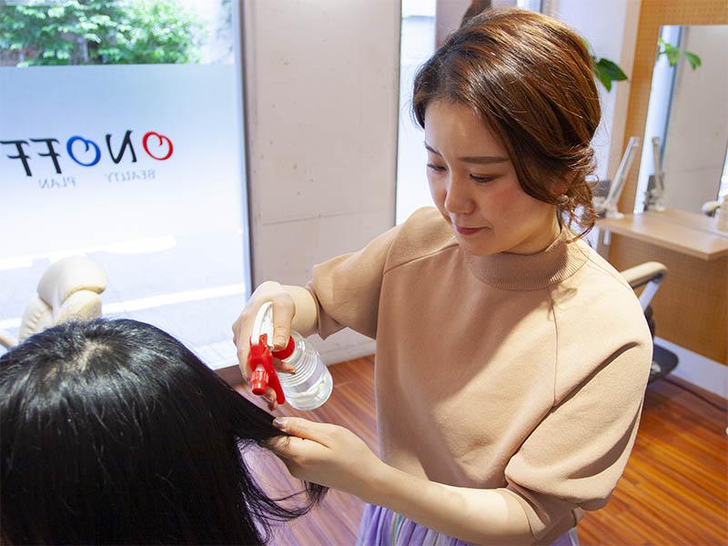 ヘアエステ専門店オノフ 髪質改善プログラムの流れ4