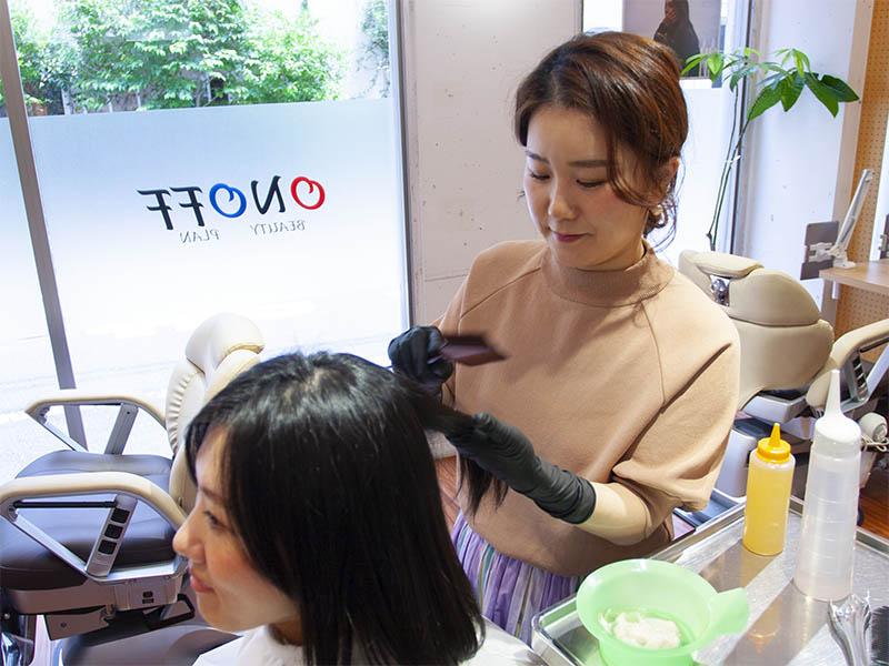 ヘアエステ専門店オノフ 髪質改善プログラムの流れ5
