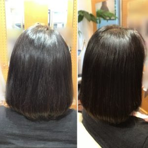 根元から毛先まで、艶髪!