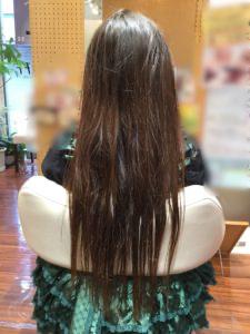 髪質感改善プログラム動画(スーパーロングのK様)