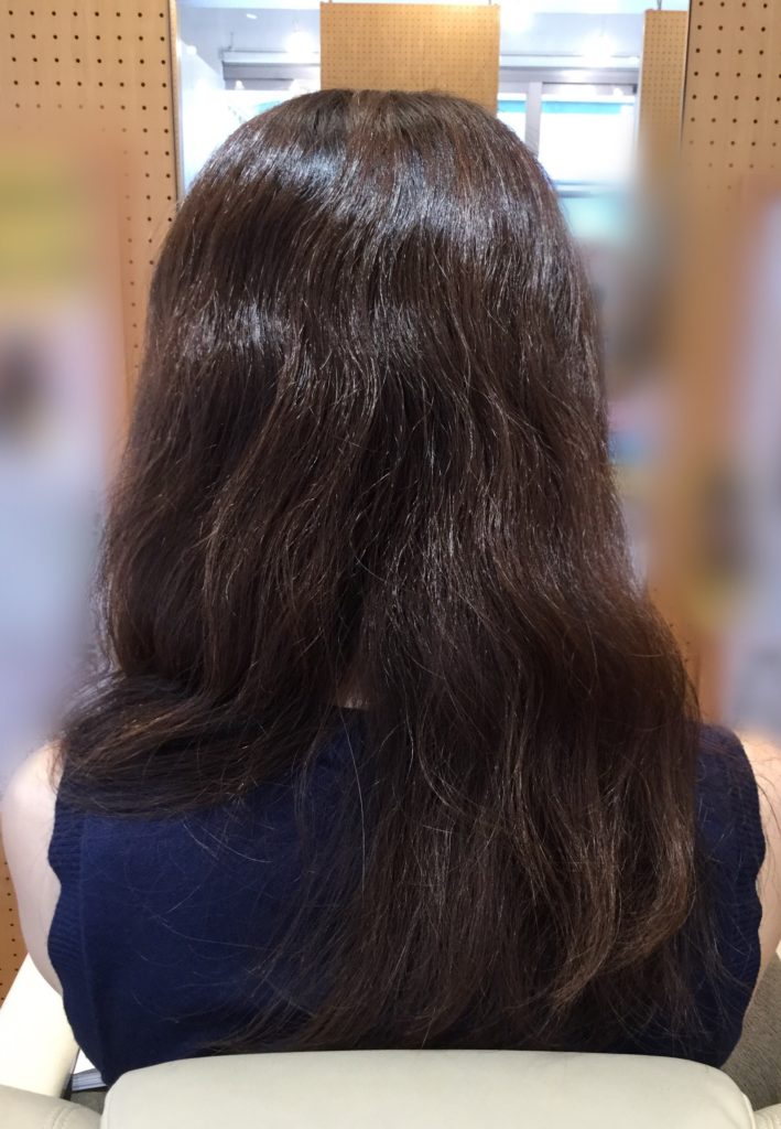 N様の髪質感改善ヘアエステ。