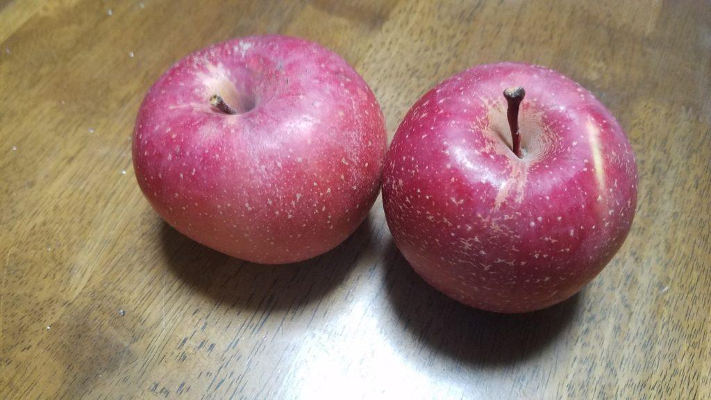 余ったりんごで!!