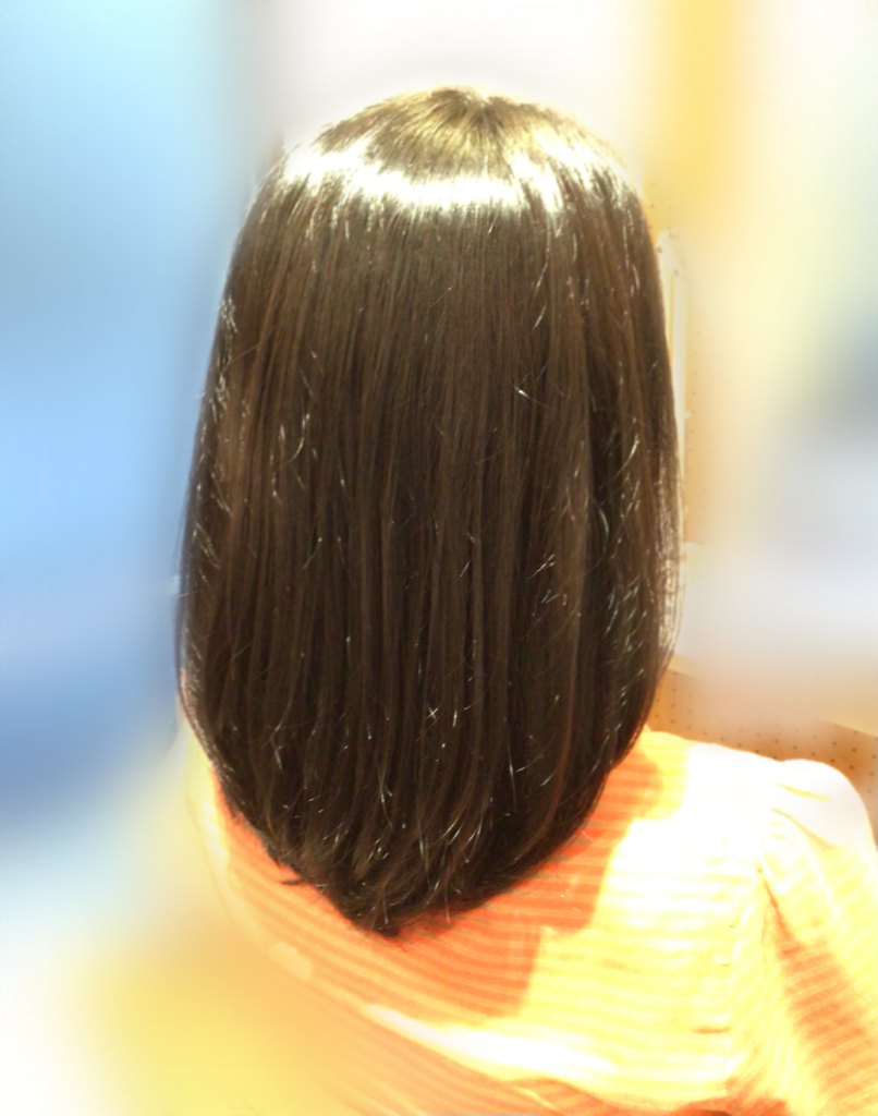 根元から毛先まで、ピュアな素髪に♪