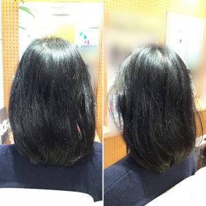 チリチリした髪の毛
