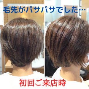 ぱさつく髪