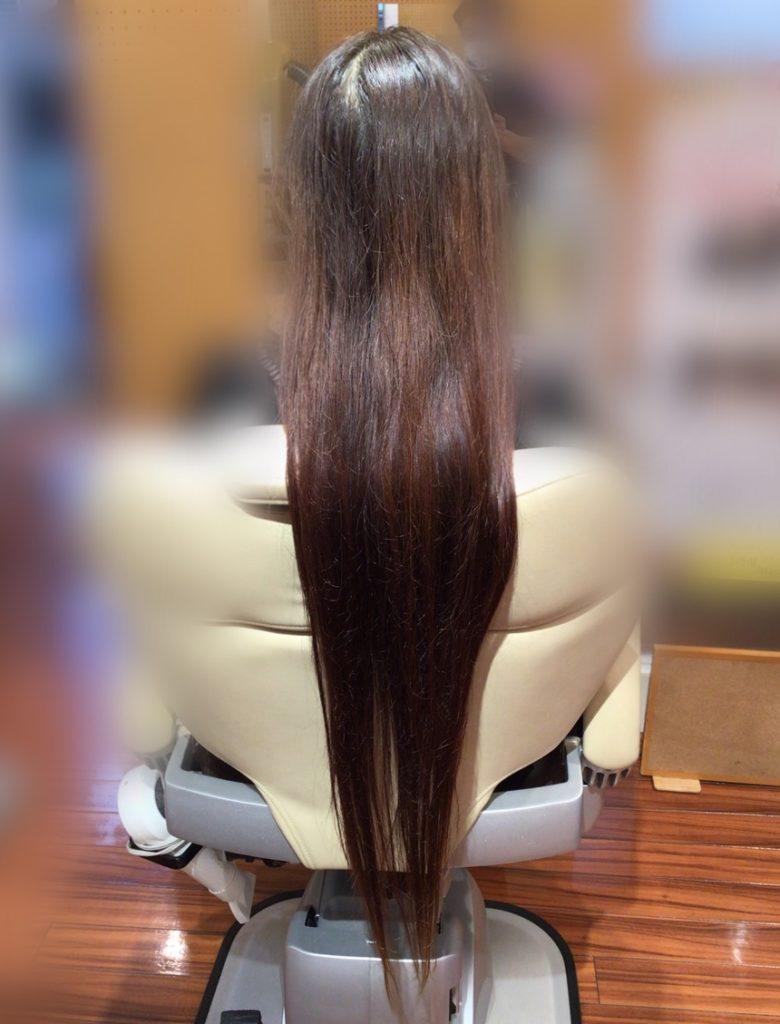 K様の髪体力向上プログラム(最長記録更新中!!)